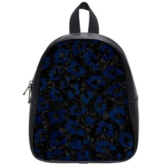Skin5 Black Marble & Blue Grunge (r) School Bag (small) by trendistuff