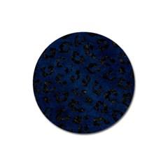 Skin5 Black Marble & Blue Grunge Magnet 3  (round) by trendistuff