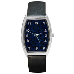 Skin5 Black Marble & Blue Grunge Barrel Style Metal Watch by trendistuff