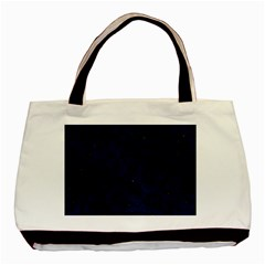 Skin5 Black Marble & Blue Grunge Basic Tote Bag (two Sides) by trendistuff