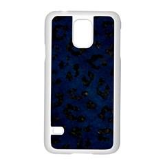Skin5 Black Marble & Blue Grunge Samsung Galaxy S5 Case (white) by trendistuff