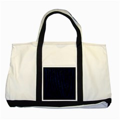 Skin4 Black Marble & Blue Grunge (r) Two Tone Tote Bag by trendistuff