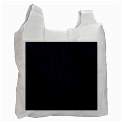 Skin4 Black Marble & Blue Grunge (r) Recycle Bag (one Side) by trendistuff