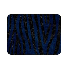 Skin4 Black Marble & Blue Grunge Double Sided Flano Blanket (mini) by trendistuff