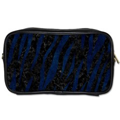 Skin3 Black Marble & Blue Grunge Toiletries Bag (two Sides) by trendistuff
