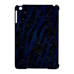 Skin3 Black Marble & Blue Grunge Apple Ipad Mini Hardshell Case (compatible With Smart Cover) by trendistuff