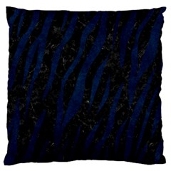 Skin3 Black Marble & Blue Grunge Large Flano Cushion Case (two Sides) by trendistuff