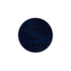 Skin2 Black Marble & Blue Grunge (r) Golf Ball Marker (4 Pack) by trendistuff