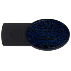 Skin2 Black Marble & Blue Grunge (r) Usb Flash Drive Oval (4 Gb) by trendistuff