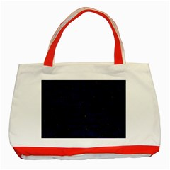 Skin2 Black Marble & Blue Grunge Classic Tote Bag (red) by trendistuff
