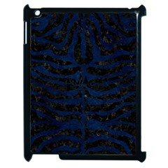 Skin2 Black Marble & Blue Grunge Apple Ipad 2 Case (black) by trendistuff