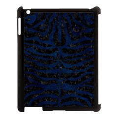 Skin2 Black Marble & Blue Grunge Apple Ipad 3/4 Case (black) by trendistuff