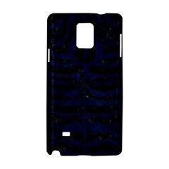 Skin2 Black Marble & Blue Grunge Samsung Galaxy Note 4 Hardshell Case by trendistuff