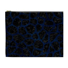 Skin1 Black Marble & Blue Grunge (r) Cosmetic Bag (xl) by trendistuff