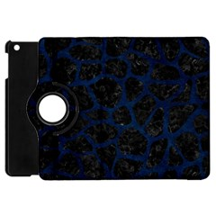 Skin1 Black Marble & Blue Grunge (r) Apple Ipad Mini Flip 360 Case by trendistuff