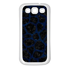 Skin1 Black Marble & Blue Grunge (r) Samsung Galaxy S3 Back Case (white) by trendistuff