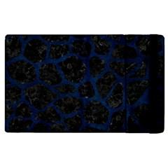 Skin1 Black Marble & Blue Grunge (r) Apple Ipad Pro 12 9   Flip Case by trendistuff
