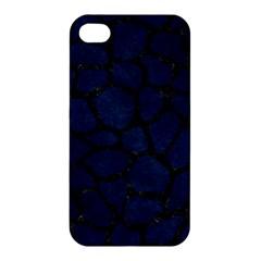 Skin1 Black Marble & Blue Grunge Apple Iphone 4/4s Hardshell Case by trendistuff