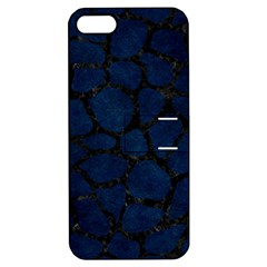 Skin1 Black Marble & Blue Grunge Apple Iphone 5 Hardshell Case With Stand by trendistuff