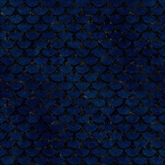 Scales3 Black Marble & Blue Grunge (r) Magic Photo Cube by trendistuff