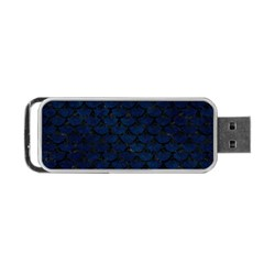 Scales3 Black Marble & Blue Grunge (r) Portable Usb Flash (two Sides) by trendistuff
