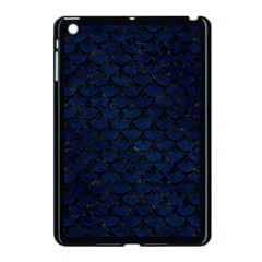 Scales3 Black Marble & Blue Grunge (r) Apple Ipad Mini Case (black) by trendistuff