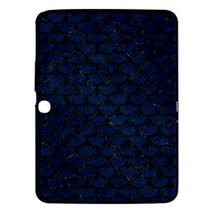 Scales3 Black Marble & Blue Grunge (r) Samsung Galaxy Tab 3 (10 1 ) P5200 Hardshell Case  by trendistuff
