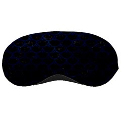 Scales3 Black Marble & Blue Grunge Sleeping Mask by trendistuff