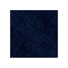 Scales2 Black Marble & Blue Grunge (r) Acrylic Tangram Puzzle (4  X 4 ) by trendistuff