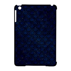 Scales2 Black Marble & Blue Grunge (r) Apple Ipad Mini Hardshell Case (compatible With Smart Cover) by trendistuff