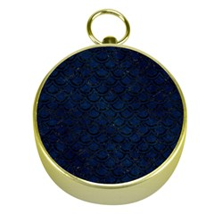 Scales2 Black Marble & Blue Grunge (r) Gold Compass by trendistuff