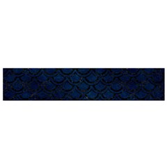 Scales2 Black Marble & Blue Grunge (r) Flano Scarf (small) by trendistuff