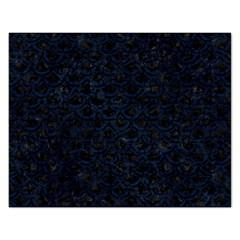 Scales2 Black Marble & Blue Grunge Jigsaw Puzzle (rectangular)
