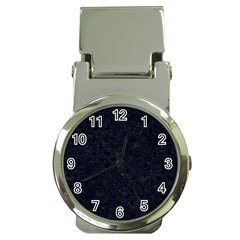 Scales2 Black Marble & Blue Grunge Money Clip Watch by trendistuff