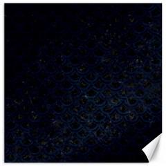 Scales2 Black Marble & Blue Grunge Canvas 20  X 20  by trendistuff