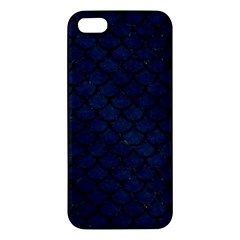 Scales1 Black Marble & Blue Grunge (r) Apple Iphone 5 Premium Hardshell Case by trendistuff