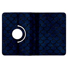 Scales1 Black Marble & Blue Grunge (r) Kindle Fire Hdx Flip 360 Case by trendistuff