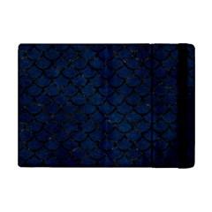 Scales1 Black Marble & Blue Grunge (r) Apple Ipad Mini 2 Flip Case by trendistuff