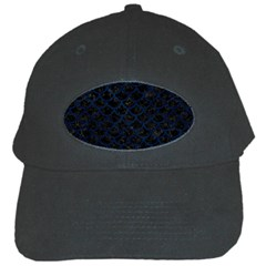 Scales1 Black Marble & Blue Grunge Black Cap by trendistuff