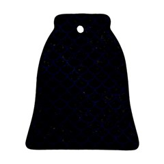 Scales1 Black Marble & Blue Grunge Ornament (bell) by trendistuff