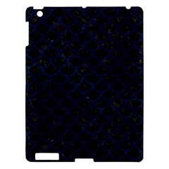 Scales1 Black Marble & Blue Grunge Apple Ipad 3/4 Hardshell Case by trendistuff