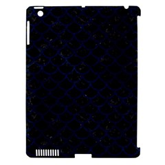 Scales1 Black Marble & Blue Grunge Apple Ipad 3/4 Hardshell Case (compatible With Smart Cover) by trendistuff