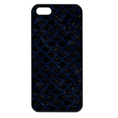 Scales1 Black Marble & Blue Grunge Apple Iphone 5 Seamless Case (black) by trendistuff