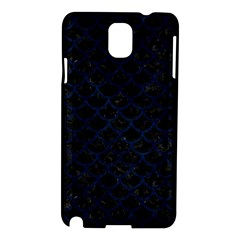 Scales1 Black Marble & Blue Grunge Samsung Galaxy Note 3 N9005 Hardshell Case by trendistuff
