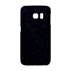 Scales1 Black Marble & Blue Grunge Samsung Galaxy S6 Edge Hardshell Case by trendistuff