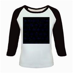 Royal1 Black Marble & Blue Grunge (r) Kids Baseball Jersey by trendistuff