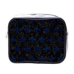 Royal1 Black Marble & Blue Grunge (r) Mini Toiletries Bag (one Side) by trendistuff