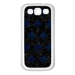 Royal1 Black Marble & Blue Grunge (r) Samsung Galaxy S3 Back Case (white) by trendistuff