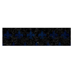 Royal1 Black Marble & Blue Grunge (r) Satin Scarf (oblong) by trendistuff