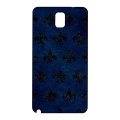 Royal1 Black Marble & Blue Grunge Samsung Galaxy Note 3 N9005 Hardshell Back Case by trendistuff